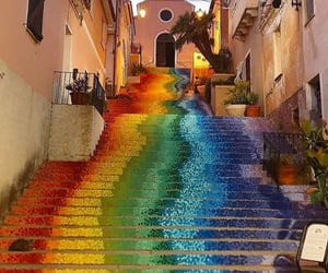 colors, rainbow, and architecture image