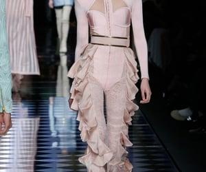 baby pink, corset, and Balmain image