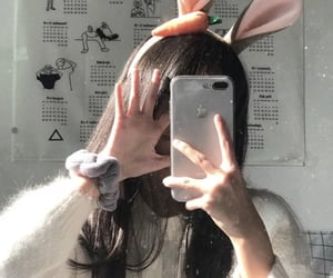 bunny, faceless, and girl image
