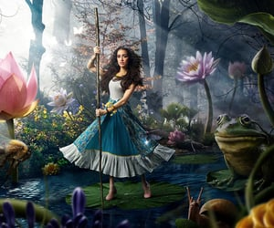 alice, forest, and alice in wonderland image