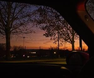 beautiful, sunrise, and car image