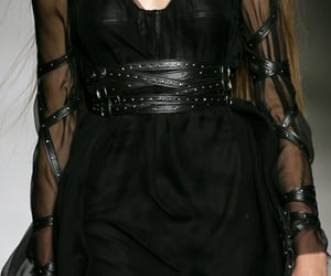 black dress, clothes, and mini dress image