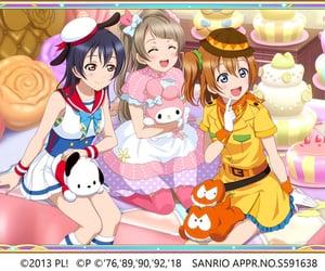 love live school idol, anime, and sanrio image