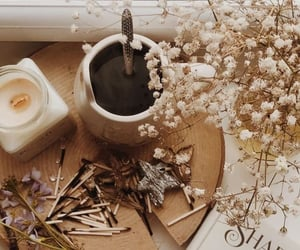 aroma, candle, and coffee image