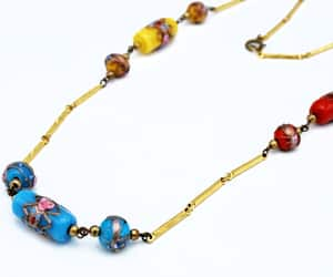 etsy, vintage jewelry, and red blue yellow image