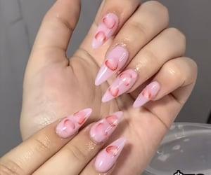 acrylic, nails, and pink image