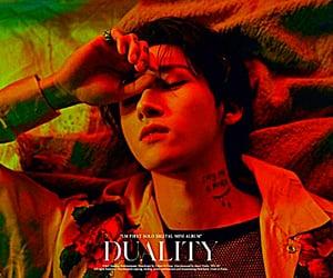 album, duality, and neon image