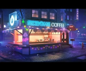 aesthetic, midnight lofi sleep, and coffee lofi image