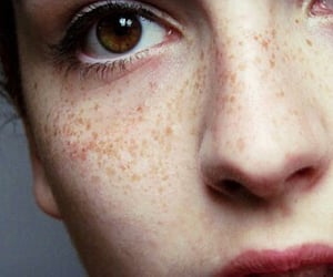 beautiful, face, and freckle image