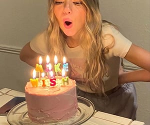 birthday cake, candles, and celebrate image