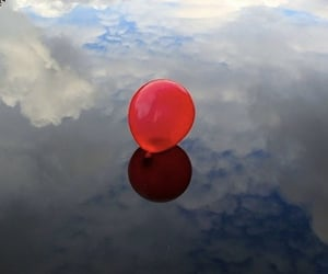 aesthetic, cloud, and balloon image