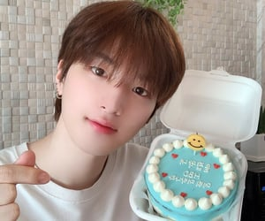 birthday, brown hair, and hyunbin image