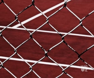 aesthetic, fence, and red image