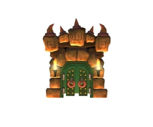 Bowser, castle, and doors image