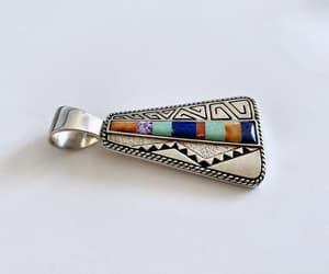 sterling silver, inlay gemstones, and unique image