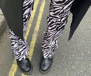 edgy, pale, and zebra print image