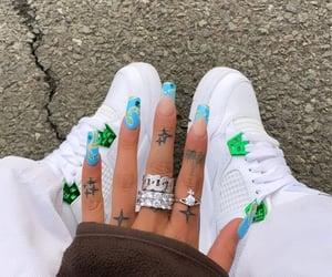 nails, sneakers, and jordan 4 image