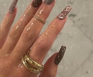 art, brown, and nail art image