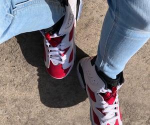 air jordan, carmine, and sneakers image