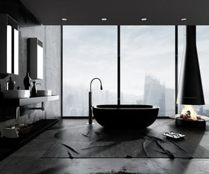 fire, hotelroom, and tub image