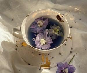 flowers, purple, and tea image