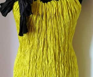 lemon yellow dress, etsy, and handmade dress image