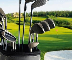 golf, sport, and golf clubs image