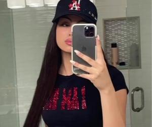 mirror selfie, nicole sahebi, and brunette image