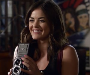aria, lucy hale, and pll image