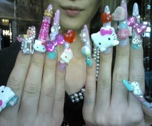 core, gyaru, and nails image