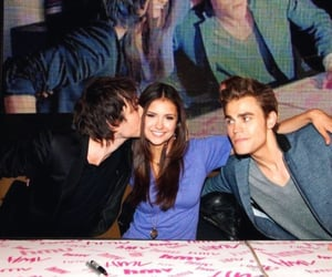 ian somerhalder, Nina Dobrev, and tv shows image