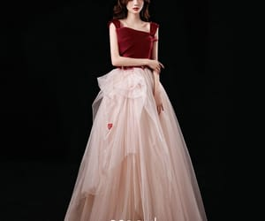 red dress, tulle, and formal dresses image