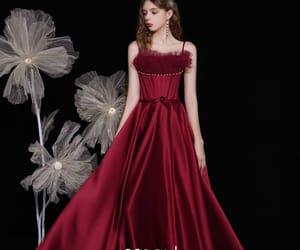 fashion, girl, and long dress image