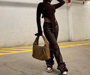 body, brown, and fashion image
