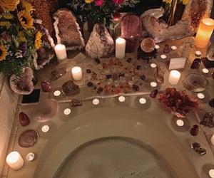 bathroom, bathtub, and bubble bath image