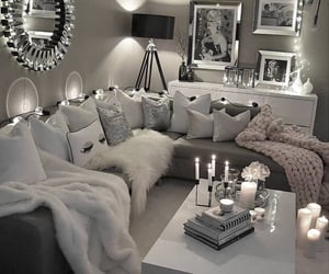 aesthetic, silver grey, and blankets image