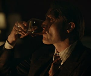 alcohol, mads mikkelsen, and psychopath image