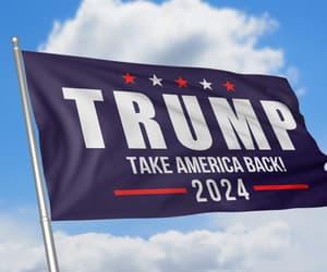 flag, trump, and president trump image