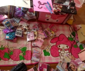 my melody, cute, and pink image