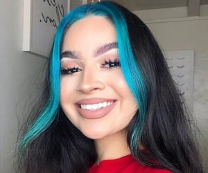 blue, makeup, and hairstyles image