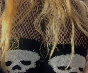 fishnets, outfit, and skull image