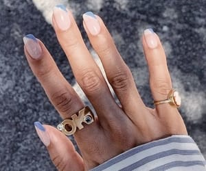 nails, jewelry, and blue image