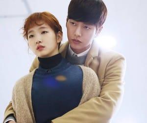couple, korea, and tv image