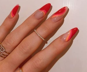 nails, red, and kylie jenner image