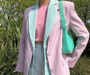 fashion, blue, and pink image