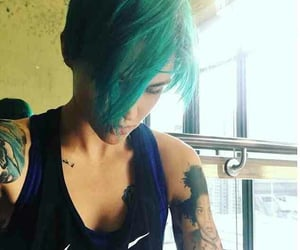 beauty, green hair, and hair goals image