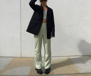 street style, leather trousers, and everyday look image