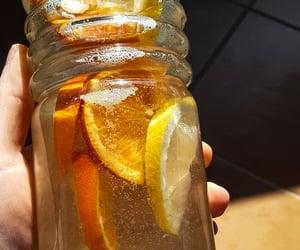 honey, orange, and water image