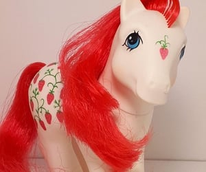 my little pony, strawberry, and vintage image
