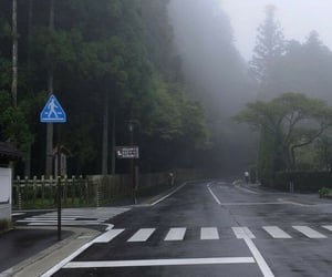 street, fog, and aesthetic image